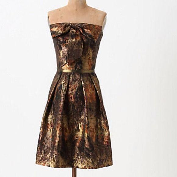 Anthropologie Samhain Metallic Dress by Eva Franco Anthro description: Eva…