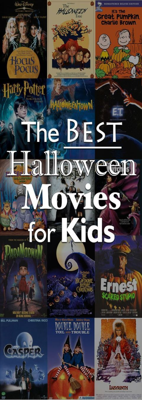 Halloween Movies: Even if your kids have flown the nest, not everyone loves super scary or gory horror flicks. (Present company included.) Use this list to find some wholesome, not-quite-as-scary films. Find more great family friendly Halloween movies for kids, and adults here.