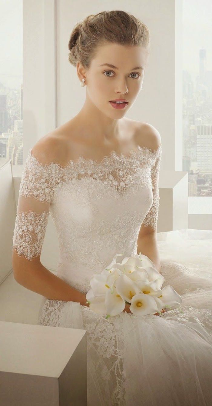 25  best ideas about Off shoulder wedding dress on Pinterest | Big ...