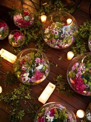 Flores en peceras centros de mesa pinterest for Centros de mesa con peceras