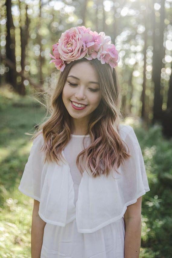 pink statement spring racing carnival flower crown // flower