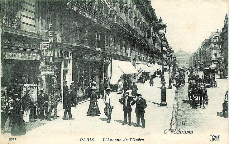 Paris - L'Avenue de l'Opéra. ND Phot. ANCIENS ETAB. NEURDEIN ET CIE. - IMP. CRETE, SUCC, CORBEIL-PARIS 52, AV. DE BRETEUIL. - PARIS - A3. Voyagée sous enveloppe en novembre 1920 - A noter, une boutique de cartes postales au premier plan à gauche.