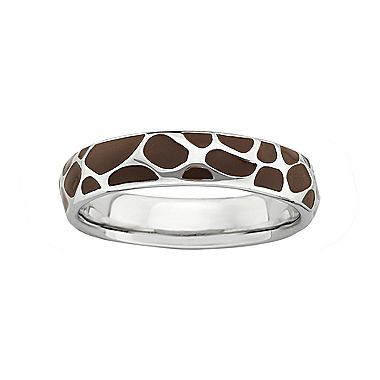 Giraffe print ring. Would like it as a bracelet.