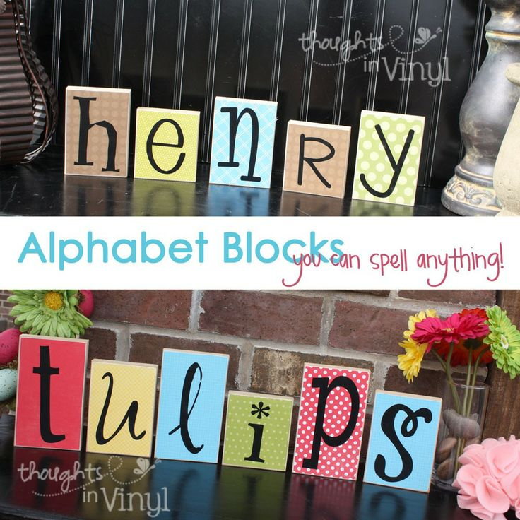 Cute alphabet blocks.  You can spell anything you want and two font choices to pick from.  Start at only 85 cents!  Lots of fun wood crafts for sell on this website