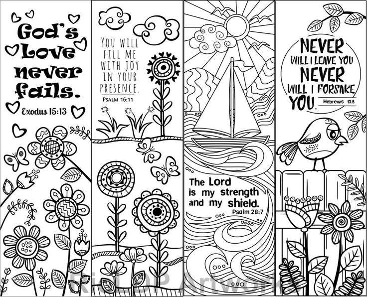Coloring Book Bible Verses : 8 printable bible verse coloring bookmarks for by ricldpartworks