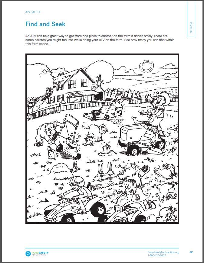 farm safety coloring books