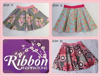 Handmade by Kate from Ribbon Inspirations. Thigh length skater skirts