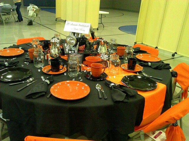 Abundant Blessing Tea! Harley Davidson themed table  decoration