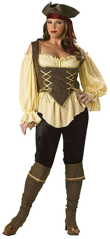 womens rustic pirate costume plus size - Size 26 Halloween Costumes