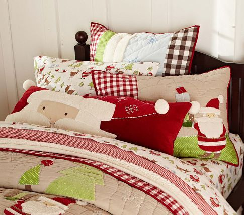 17 best images about pillows on pinterest floor cushions cute pillows and pink kids - Pottery barn holiday bedding ...