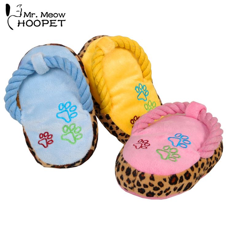 Lovely dogs toy pet puppy chew play cute plush slipper