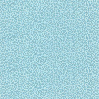 null 8 in. W x 10 in. H Sassy Aqua Cheetah Print Wallpaper Sample