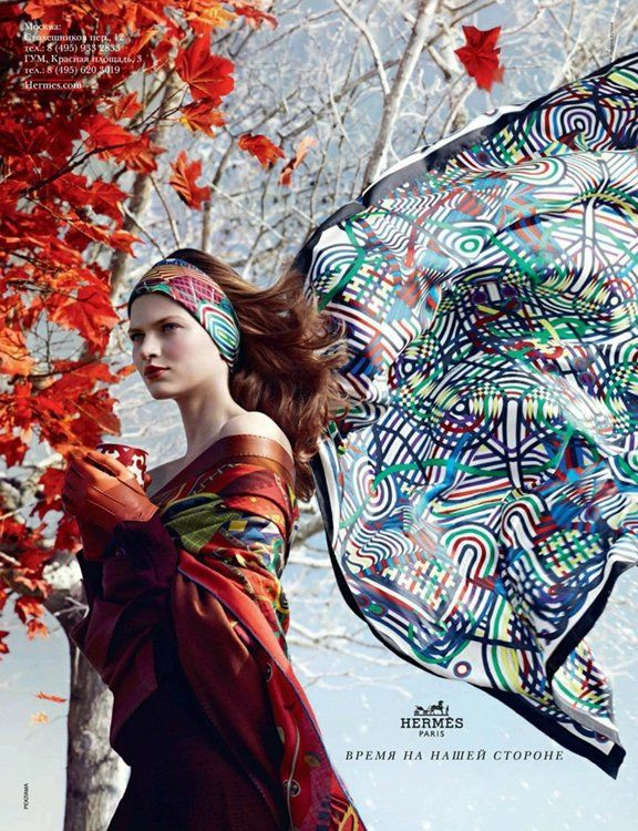 Hermès Fall 2012 Ad Campaign  Bette Franke photographed by Nathaniel Goldberg