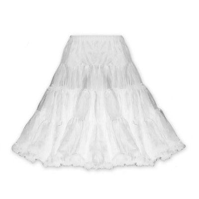 Witte lange petticoat - vintage, 50's, rockabilly, retro