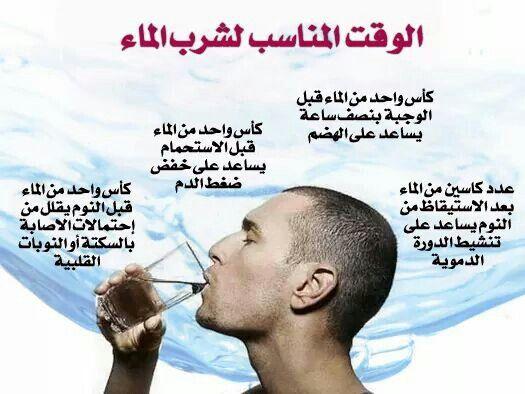 أوقات شرب الماء،،، م