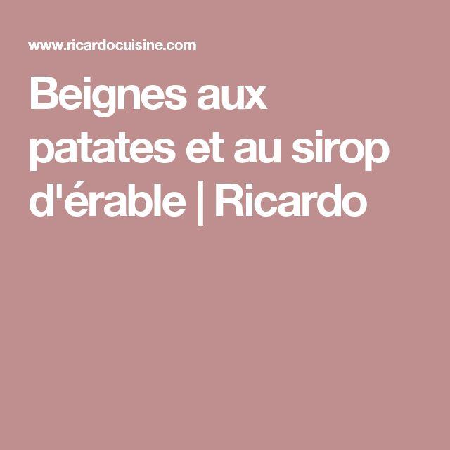 Beignes aux patates et au sirop d'érable | Ricardo