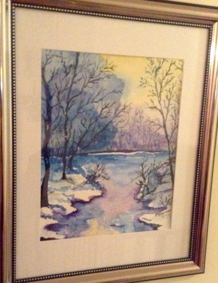 Watercolour winter skies