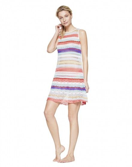 Kleid mit Streifen - BADEMODE - DAMEN