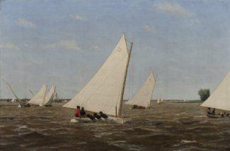Thomas Eakins - Sailboats Racing on the Delaware, 1874