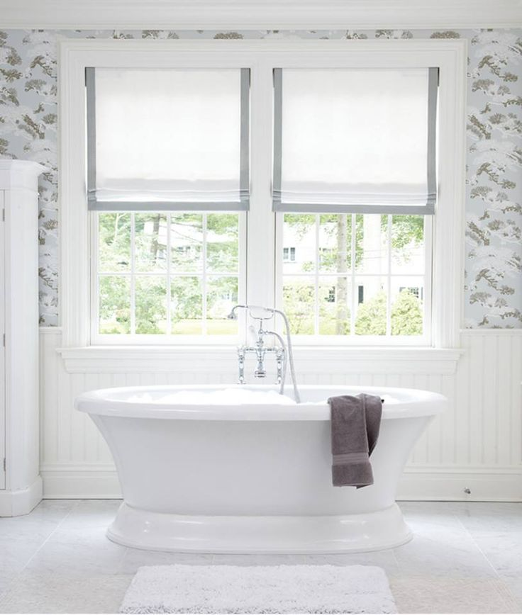 Create a relaxed look with soft roman shades!