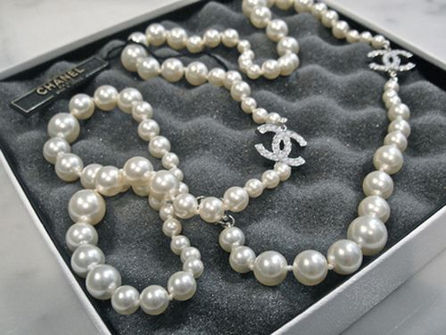 Chanel necklace  My DREAM. Watched Devil Wears Prada last night and am obsessed with Chanel pearls to Layer.