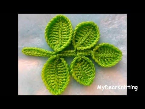 Small crochet leaves of different trees | Super Easy Tutorial