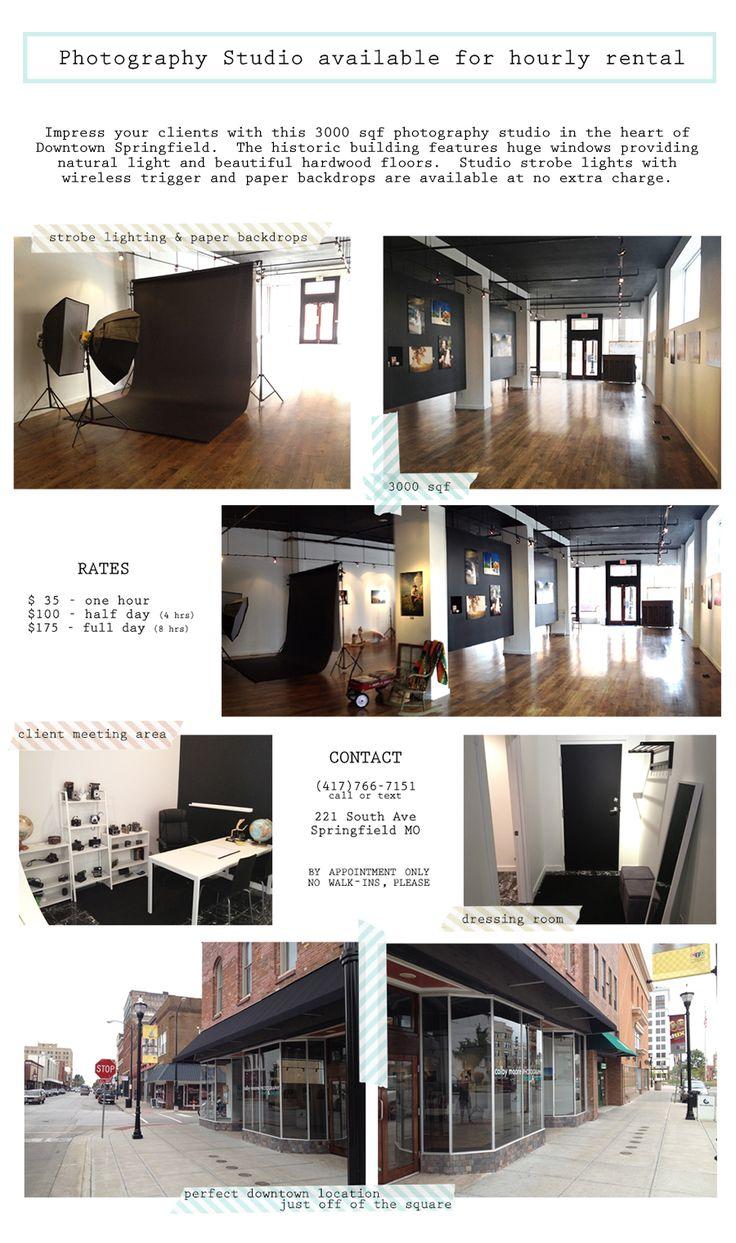 Photography Studio Rental, Springfield, MO