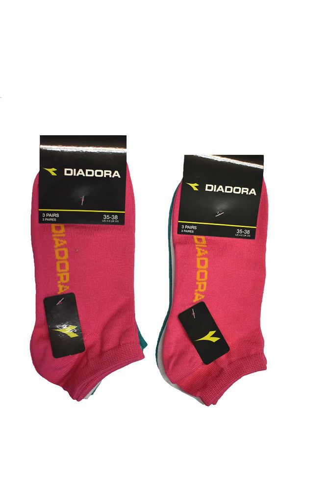 5f0816a449 DIADORA 3 Paia Calza Invisibile Ragazza/Donna SOCKS Colori Assortiti  DIADOD1709