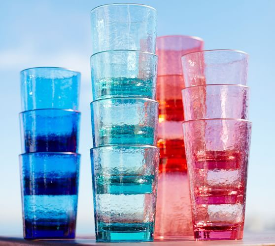 mix of blue and aqua.... Fresca Acrylic Drinkware, Set of 4