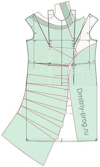 """Példák a modellek ruhák (2) alapja egy programot számítás """"Cutter"""""""