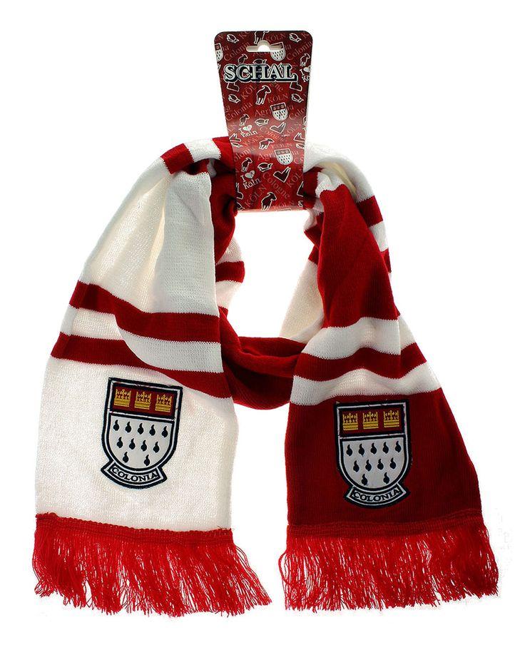 Rot-weißer Schal 'Kölner Wappen'. - Der KölnShop
