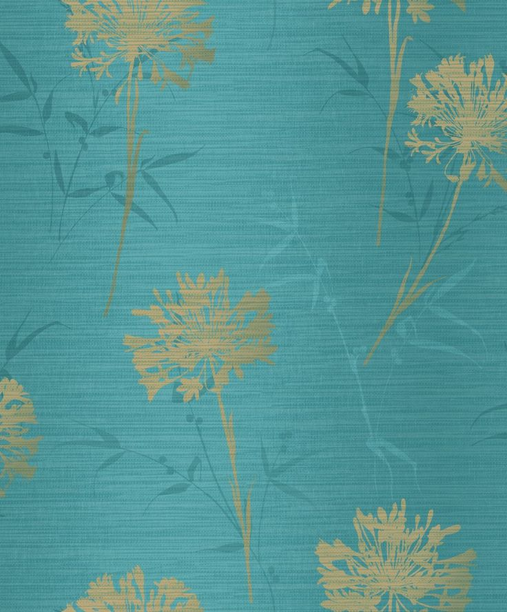 Kimora Teal / Gold wallpaper by Arthouse