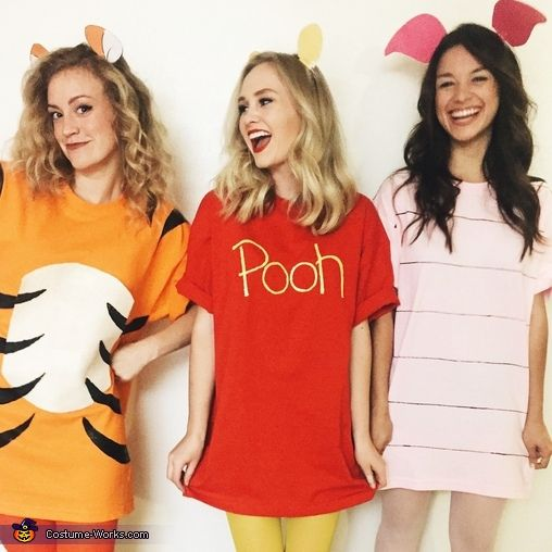 Charlotte: My roommates (Monica and Morgan) and I have always wanted to be Pooh Bear, Piglet and Tigger but we didn't know how to turn these cartoon characters into real life...