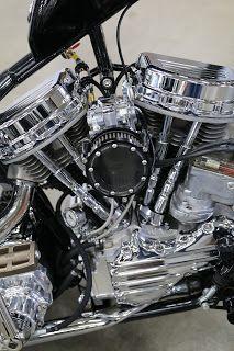 OldMotoDude: Harley-Davidson Panhead Chopper on display at the 2018 Denver Motorcycle Expo