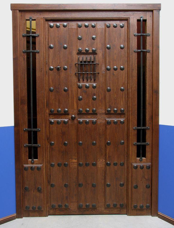 Puertas calle forja buscar con google puertas chulas for Puertas principales de madera rusticas