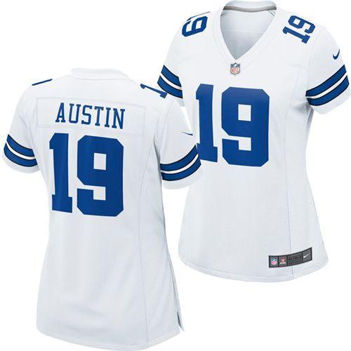 8432debff ... Dallas Cowboys Miles Austin 19 Womens Replica Jersey White DPS 302786  303016 Cowboys ...