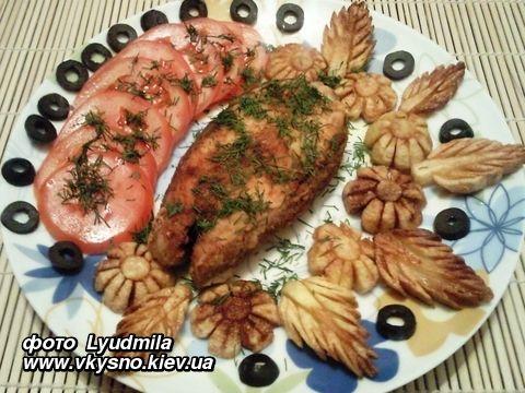Форель (или любая красная рыба) жареная