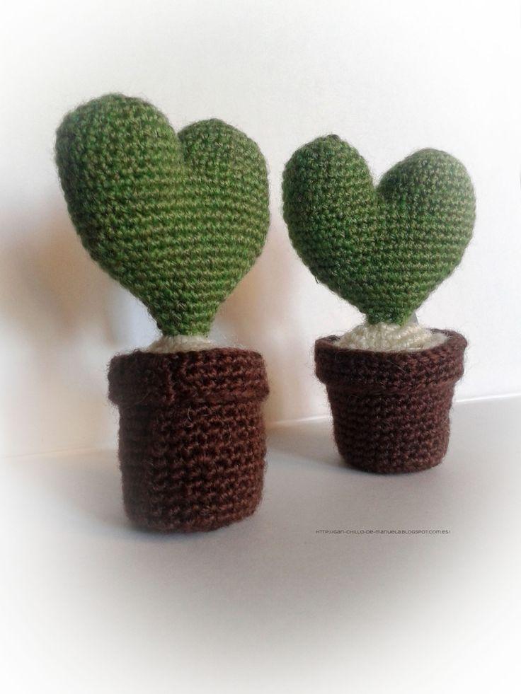 Cactus de ganchillo...se evitan pinchazos