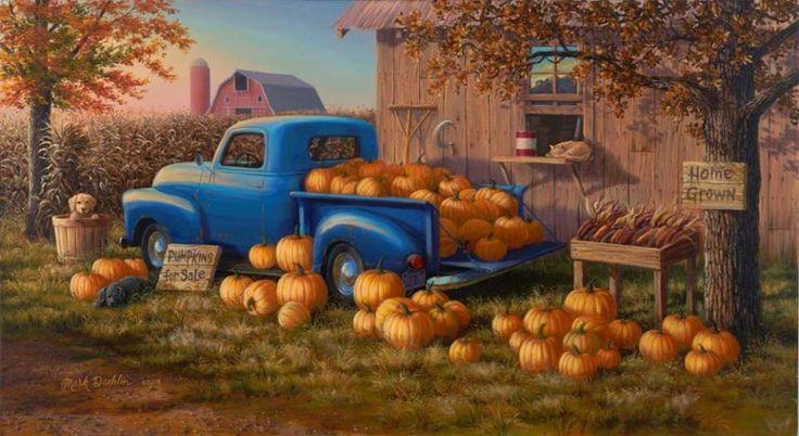 """Pumpkins For Sale"" by Mark Daehlin"