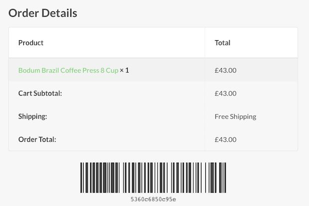 WooCommerce Order Barcodes 1.3.0 Extension - Get Lot