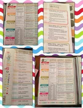 26 best Teacher Planner ideas images on Pinterest   Erin condren     Erin Condren Teacher Planner Lesson Plan Template