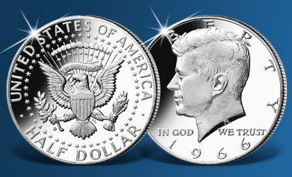 Stříbrná mince J. F. Kennedy z roku 1964 vyobrazuje jednoho z nejpopulárnějších prezidentů Spojených států amerických. K dostání u Národní Pokladnice. #mince #kennedy #coin