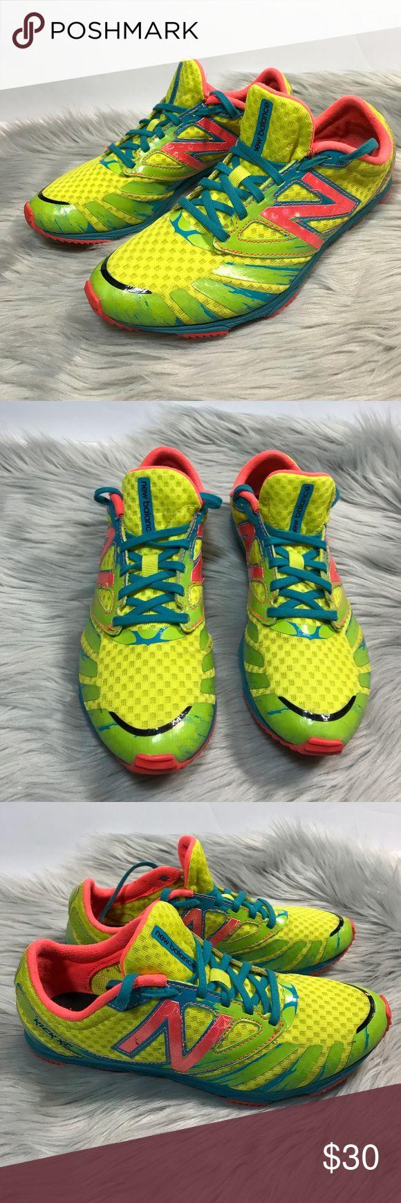 New balance neon running shoes kick XC 700 7.5 EUC women's size 7.5 New Balance Shoes Sneakers