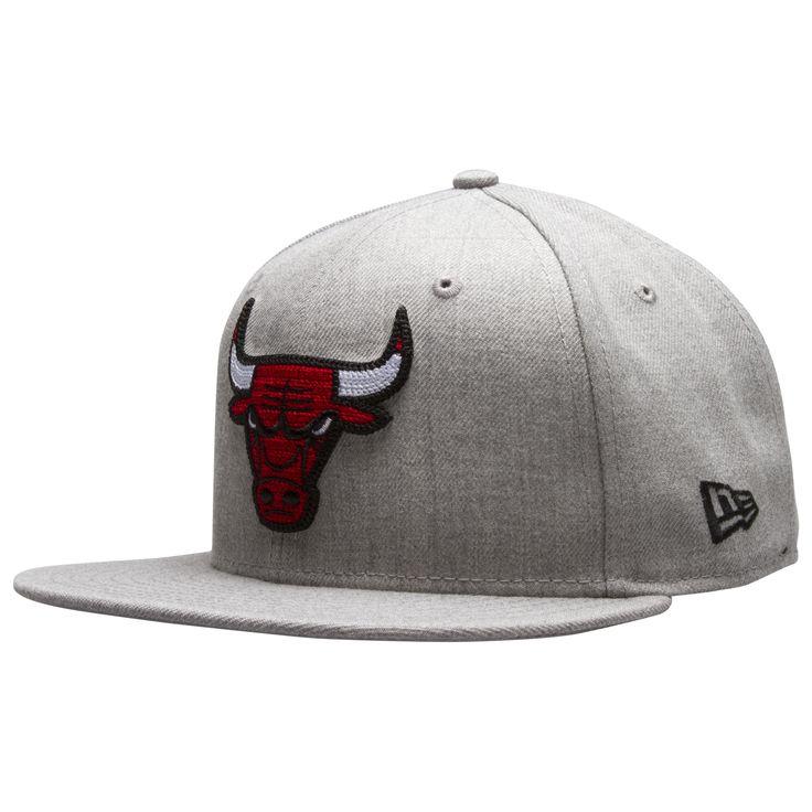 Chicago Bulls Heather Grey Cross-Stitch Bull Logo Fitted Flat Bill Hat by New Era #Chicago #Bulls #ChicagoBulls