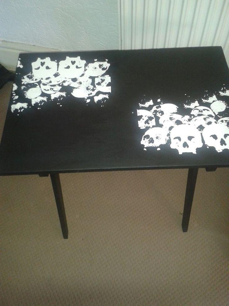 Unique Designer Gothic Biker Rock Black Skull Coffee table