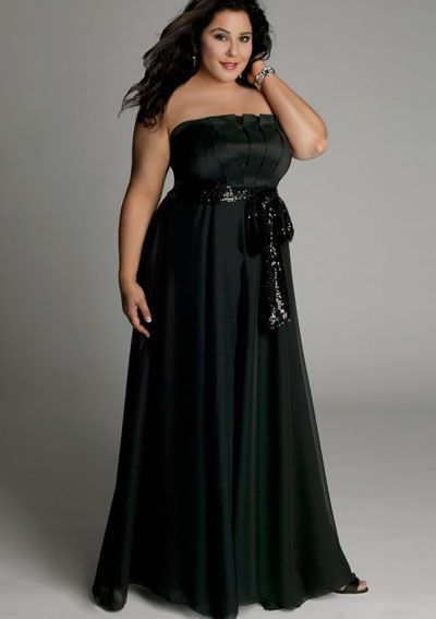 20s and 30s Clothing plus size | plus size evening dress Estrella Gown in Black