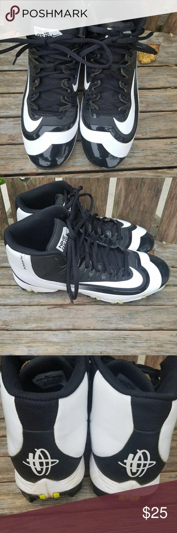 Nike Huarache baseball cleats Men's size 7 High top baseball cleats Nike Shoes Athletic Shoes