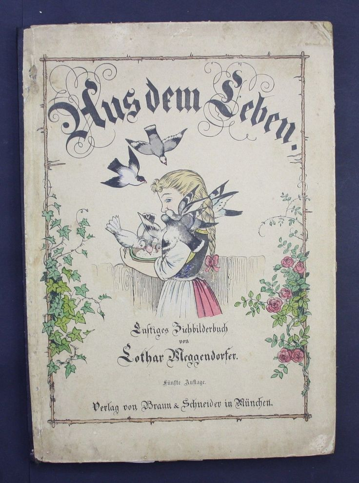 Meggendorfer, Lothar (1847-1925): Aus dem Leben. Lustiges Ziehbilderbuch. - Fünfte Auflage. München, Braun und Schneider 1890.