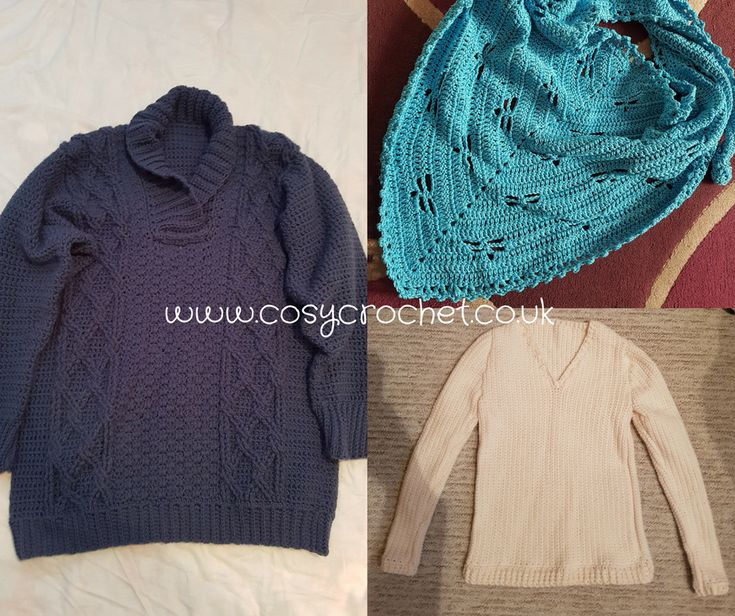 Crochet Jumpers & Scarf