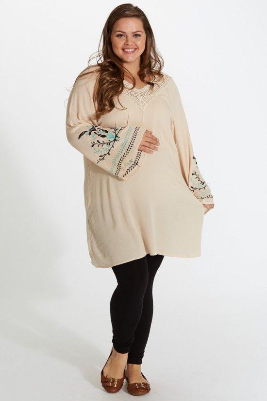 Plus size maternity sweater dress